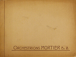 Cover of orchestrion catalogue in postcard size